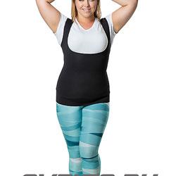 Майка-сауна для похудения (с вырезом) живот до 140 см SV10