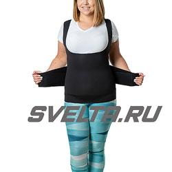 Майка-сауна для похудения с утягивающим живот корсетом (живот до 116 см)  SV11